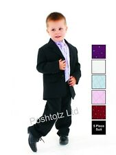 Boys Suits  5pc Lilac Formal Suit Wedding Christening Pageboy (0-3mths - 14yrs)