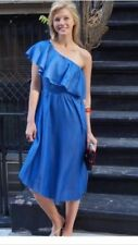 BNWT ZARA DENIM  DRESS WITH ASYMMETRIC FRILL BLOGGERS FAV.  REF. 5520/042