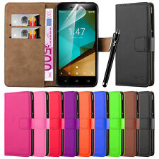 Wallet Flip Book [Stand View] Case Cover For Various Vodafone Mobile Phones