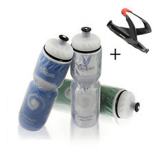 710ml Bike Bicycle Insulated Water Bottle Kettle +Holder Rack Cage US Warehouse