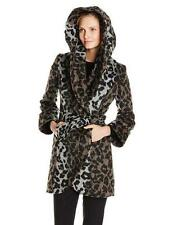 NEW! Current $199 T Tahari  Marla Leopard Wool Blend Belted Wrap Coat SZ XL