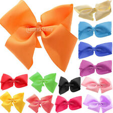 5inch Big Bow Hair Clip Pin Aligator Clips Grosgrain Ribbon Girls Hair Accessory