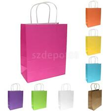 10 Kraft Paper Party Gift Treat Bag Merchandise Loot Shopping Carry Retail Bags