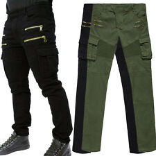 Casual Mens Fashion Stylish Casual Cotton Long Pencil Pants Slim Fit Trousers