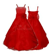 Flower Girl Princess Baby Kids Wedding Bridesmaid Birthday Party Long Prom Dress