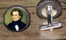 NATHANIEL HAWTHORNE art marble Cuff Link or Tie Tack or Ring or Pendant or Pin