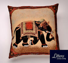INDIAN RAJ ELEPHANT 18x18in WOVEN TAPESTRY CUSHION COVER - UK MADE (45x45cm)