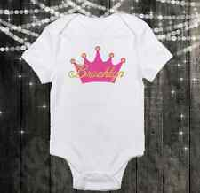 Custom Name - Princess Crown - Cute Baby Girl Clothes Onesie - Personalized Free