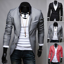 Mens Party Coat Jacket Blazer Slim Fit Stylish Fashion Casual Two Button Suit
