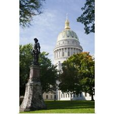 Poster Print Wall Art entitled West Virginia State Capitol exterior, Charleston,