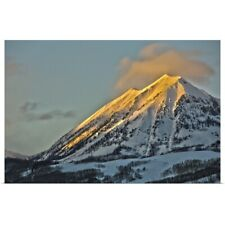 Poster Print Wall Art entitled Alpenglow on Mount Gothic Crested Butte Colorado