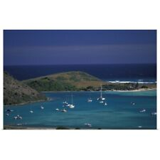 Poster Print Wall Art entitled French West Indies, St. Martin, Cul de Sac,