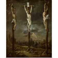 Poster Print Wall Art entitled Calvary (oil on card)