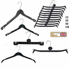 Black Plastic Coat Hangers 43cm 41cm Tops,Dress,Garment Strong Hanger used