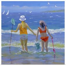 Poster Print Wall Art entitled Gone Fishing (oil on board)
