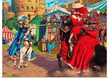 Poster Print Wall Art entitled Jousting Knights