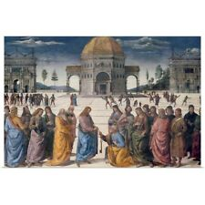 Poster Print Wall Art entitled Giving of the Keys to St. Peter, from the Sistine