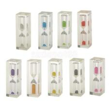 Acrylic Clear 3 Mins Hourglass Sandglass Kitchen Sand Clock Timers Gift Colorful