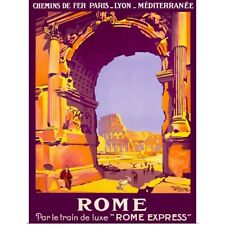 Poster Print Wall Art entitled Rome, French Railway Travel on the Rome Express,