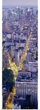 Poster Print Wall Art entitled Aerial view of buildings in a city, Manhattan,