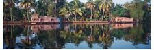 Poster Print Wall Art entitled Houseboats on water, Kerala, India