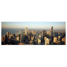 Poster Print Wall Art entitled High angle view of buildings in a city, Chicago,