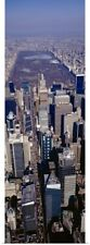 Poster Print Wall Art entitled Aerial view of a city, Manhattan, New York City,
