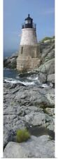 Poster Print Wall Art entitled Lighthouse along the sea, Castle Hill Lighthouse,