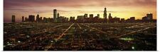 Poster Print Wall Art entitled CGI composite, High angle view of a city at