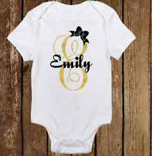 Unique Custom Name  - Cute Baby Girl Clothes Bodysuit Onesie - Personalized Free