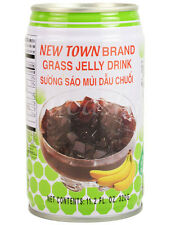 12 x NEW TOWN BRAND Grass Jelly Drink (Banana, Lychee)