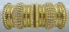 26 PCS GOLD TONE CZ BOLLYWOOD BANGLES SET INDIAN TRADITIONAL PARTY WEAR JEWELRY