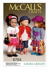 """McCALL'S 6764 AMERICAN GIRL 18"""" DOLL CLOTHES PATTERN NEW MODERN LAURA ASHLEY SEP"""
