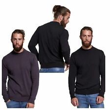 MENS JUMPER CASUAL BRAVE SOUL BASIC KNIT JUMPER SWEATER LIGHTWEIGHT KNITTED TOP