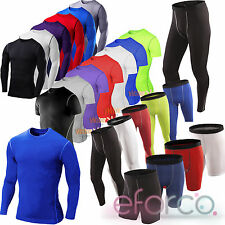 Mens Sport Compression Base Layers Gym Tank Top Tight T-Shirt/Vests/Pants Shorts