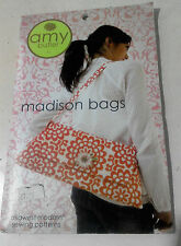 Amy Butler Sewing Pattern Madison Bags Shoulder Clutch Purse & Flower RRP £7.95