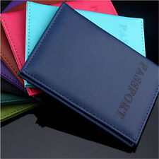 Travel Utility Simple Passport ID Card Cover Holder  Protector Skin Leather Hot