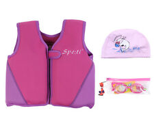 Baby's Swim Life Jacket 1-7 Years Purple include Swimming Goggles and Swim Cap