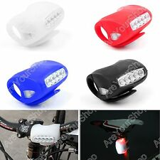 Cycling Bike Bicycle Silicone 7 LED Super Frog Front Rear Warning Lamp
