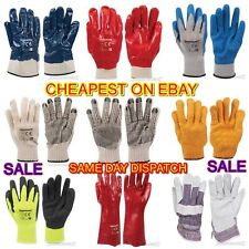 BUILDERS GLOVES DIY PVC RUBBER RIGGER LATEX GRIPPER GAUNTLETS *BARGAIN PRICES*