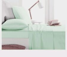 1000TC Egyptian Cotton SHEET SET Sateen Solid Mint Green