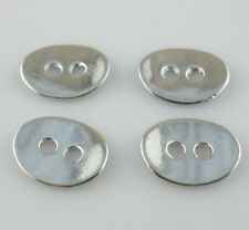 8/24/120pcs Tibetan Silver 2-Hole Oval Bending Button Connector Spacer Beads