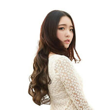 Women Long Curly Wavy Hairpiece Clips in Hair Extensions Heat Resistant Natural