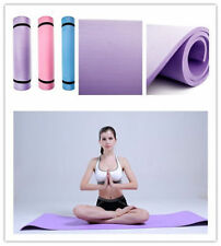 "BLUE 6mm Thick Non-Slip Yoga Mat Exercise Fitness Lose Weight 68""x24""x0.24""  AA"
