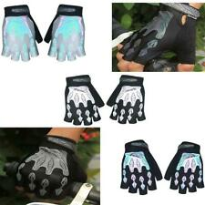 Motorcycle Bike Bicycle Riding Cycling Gym Gel Pad Reflective Half Finger Gloves