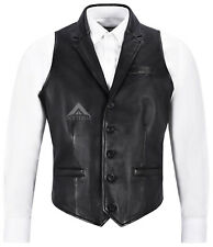 Mens 3530 Party Black Fashion Classic Designer Real Soft Nappa Leather Waistcoat
