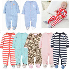 Newborn Baby Boys Girls Cartoon Bodysuit Outfits Costume Romper Cotton Clothes