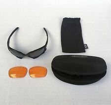 Oakley Jawbone Sunglasses - Black Frame with Black Lens + Extra Orange Lens