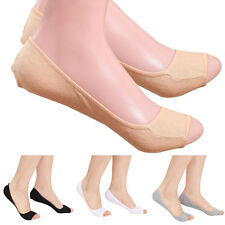 Women Modal Elastic Invisible Liner No Show Ped Low Cut Peep Toes Open Toe Socks