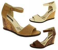 Ladies High Heels Womens Wedge Sandals Strappy Platform Shoes Size 3 4 5 6 7 8
